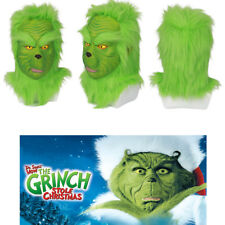 XCOSER Cosplay Costume Full Head Green Grinch Mask How the Grinch Stole Christma
