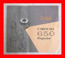 Kodak Model 650 Instruction Book 35Mm Slide Projector Manual + Free Usa Shipping