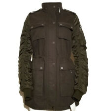 BCBG Max Azria Military Jacket Coat Cotton Blend Size Small Olive Color New