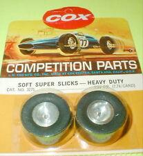 Vintage 1960's Soft Super Slicks Alum Wheels 1pr Cox #3271 For Stock Car Kits
