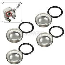 4pcs 18mm Motorcycle Bike Brake Master Cylinder Reservoir Sight Glass Len US