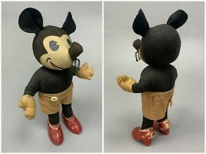 1930s Vintage Knickerbocker Toy Co Mickey Mouse Mouse Stuffed Cloth Doll ca 1935