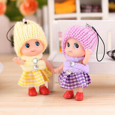 1x Unisex Girl Soft Cute Mini Doll Interactive Baby Dolls Latex Toy Gift Tackle