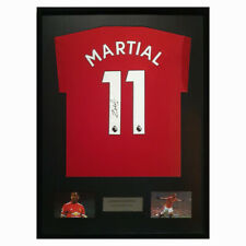 Anthony Martial Signed Manchester United Shirt COA Framed Rare New 2017-18
