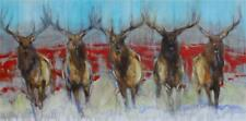 Amy Lay Antlers and Brothers Giclee on Canvas 20 x 40