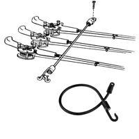 Boat Fishing Rod Tamer Straps Holder Saver Deck Mount Connector Tool Black