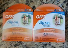 OFF!® Clip-On™ Mosquito Repellent Refills, 4 refills-12hrs each (2 boxes)