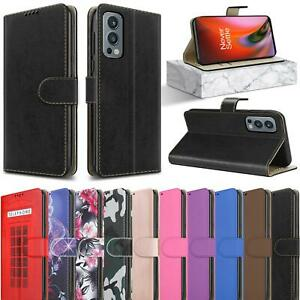 For OnePlus Nord 2 5G Wallet Case, Slim Magnetic Flip Stand Leather Phone Cover