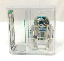 Vintage AFA 85 Star Wars R2-D2 with Pop-Up Lightsaber 1984 Power of the Force