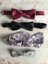 Vintage ORMOND Mens DRESS BOWTIE Lot of 4 BOW TIES Clip On Wrap Around Tie MCM