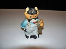 Lucy & Me Bear By Enesco Bear Dressed As Cow With Cow Bell 1989