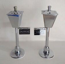 Vintage Novalty Silver Plated - SALT & PEPPER POTS designed as Street Lamps