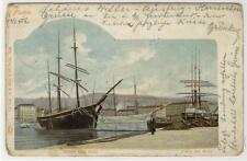 AK Rijeka, Fiume, Porto dal Molo, Hafen vom Molo 1902