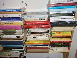 stock libri 50 pezzi OTTIMI e BUONI solo narrativa oppure misto saggi e manuali