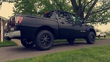 """MO970 17x9 Black Milled Wheels Rims MT Tires Package 8x6.5 33"""" Dodge Ram Chevy"""