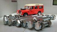Ajuste Set 4 Militar Parachoques Remolque Gato Ojos Land Rover Serie 2a 3 90