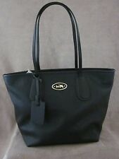 COACH 33915 Black Taxi Zip Cross Leather Tote With Dust Cover Handbag Purse NWT