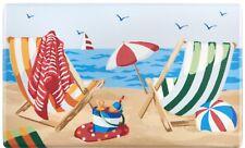 """ANTI-FATIGUE CUSHIONED FLOOR MAT (18"""" x 30"""") PVC, BEACH CHAIRS, SUMMER"""