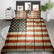 New ListingMilsleep 3pcs Home Duvet Cover American Flag Bedding Sets Soft for Adults