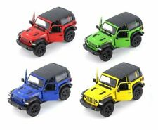 Jeep Wrangler Rubicon 4x4, Kinsmart, 6 colors, Diecast Toy Car, 5'', 1:34 scale