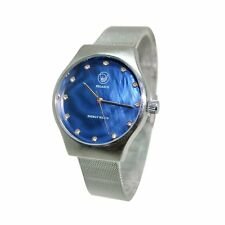 Energetix 4you 2791 Ocean Blue Fashion Quartz Magnetic Jewelry Clock Silver