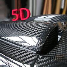 Gloss Voiture Fibre de Carbone Autocollant Vinyle Noir Film en Rouleau Emballage