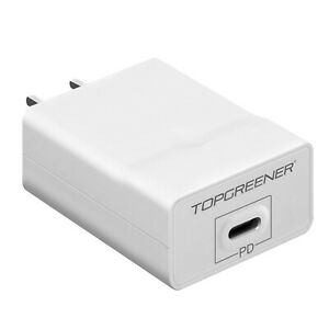 TOPGREENER Power Delivery USB C Wall Charger 18W 5V 3A