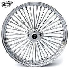 """Chrome King Spoke Wheel for Harley 23"""" x 3.5"""" Front Wheel for Single Disc Harley"""