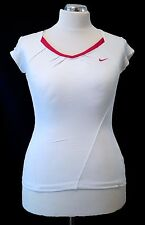 Nike Accuracy Womens Dri-fit Tennis Top - White / Pink - Size Medium