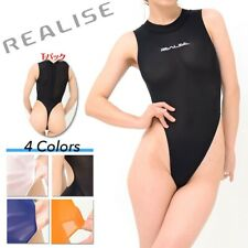REALISE thong swimsuit BLACK see thru (3L) Medium Lingerie String bodysuit teddy