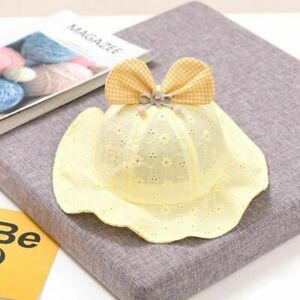 Lattice Bow Baby Hat Hollow Breathable Summer Infant Girl Bucket Hat Soft Cotton