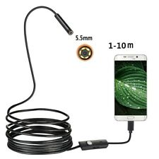5.5mm 6LED Android Endoscope Snake Borescope USB Inspection Camera Waterproof US