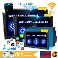 "7"" 2 Din Car Radio Stereo MP5 Player Android 9.1 GPS BT WiFi HD Touch Screen USB"
