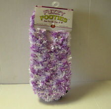 Slippers, Ladies, Fuzzy Footies By Red Carpet, One Size, Purple, Brand New