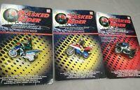 Lot of 3x Masked Rider Revvin' Bike - Full Set - Vintage Bandai Saban 1995 - Moc