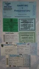 PONTYPRIDD v CARDIFF RUGBY TICKETS 1994 - 2008 GROUP of 8