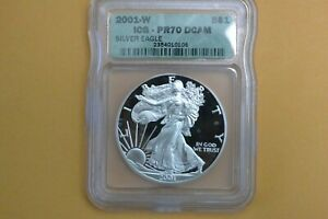 2001-W Silver Eagle ICG PR70 DCAM - SPOTTED