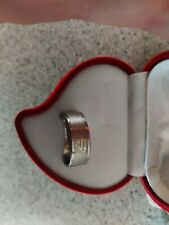 Mens & Womens Silver Superman Ring SIZE P stainless Steel band. Girls boys gift