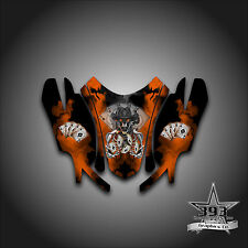 Arctic Cat Firecat Sabercat F5 F6 F7 03 - 06 Graphics Wrap Outlaw Hood Orange