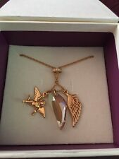 Pretty Gold Plated Necklace With Cherub & Crystal