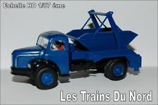 Camion Berliet GLR8 Benne à déchets Bleu HO 1/87 éme BREKINA SAI 2660