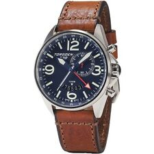 New Torgoen Swiss T30 Men's Quartz 45 mm Case Blue Face Pilot Alarm / GMT Watch