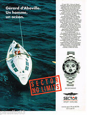PUBLICITE ADVERTISING 065  1992  SECTOR  montre SGE 500 chrono GERARD D'ABOVILLE