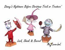 Disney's: The Nightmare Before Christmas Lock, Shock and Barrel Figurines