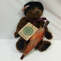 Boyds Bears Plush Bear Small Brown Jointed Umbrella Included Collectible 7in