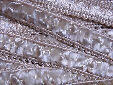 cream upholstery trim fabric trimming edge per meter crushed velvet 15mm T007