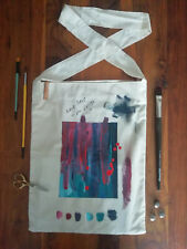 Hand Painted 100% Cotton Tote Shopping Bag