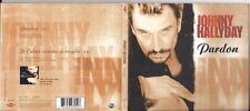 CD DIGIPACK 2 TITRES JOHNNY HALLYDAY PARDON CD TRANSPARENT EDIT. LIMITÉE 2000