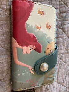 Loungefly Disney Ariel The Little Mermaid Flounder Pearl Wallet NWT