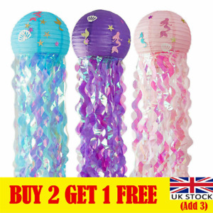 Mermaid Party Hanging Jellyfish Lanterns Under the Sea Theme Party Decorations*